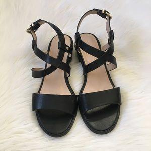 2f2114dec24 Topshop Black Ankle Strap Heeled Sandals